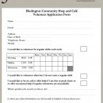 Bledington Shop Volunteer Sign Up Form